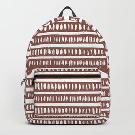 Mudcloth Lines | Dusty Rose  Backpack