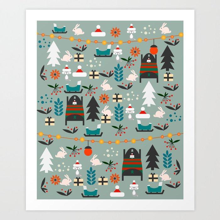 Everybody's waiting for Santa Art Print