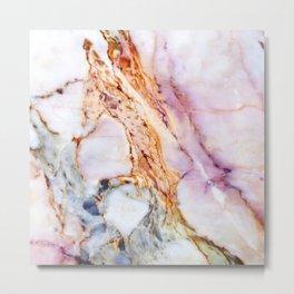 Pink marble detail Metal Print