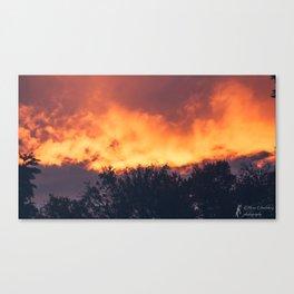 Fire Clouds Canvas Print