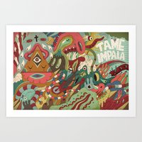 tame impala Art Prints featuring Tame Impala by uberkraaft
