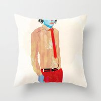 hat Throw Pillows featuring Hat by Alvaro Tapia Hidalgo