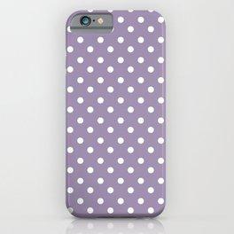 Lavender 4 dots iPhone Case