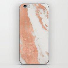 Marble Rose Gold Shimmer Light iPhone & iPod Skin