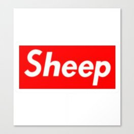 Sheep (Supreme) Box Logo Canvas Print