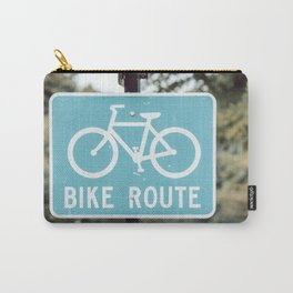 Bike Lane Sign Carry-All Pouch