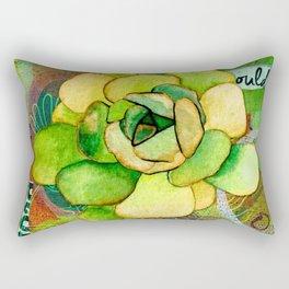 Pietra Rosetta Succulent Garden Rectangular Pillow