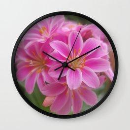 Tina's Garden: Pink Flower Wall Clock