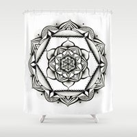 geometry Shower Curtains featuring Geometry by JWRIGGS