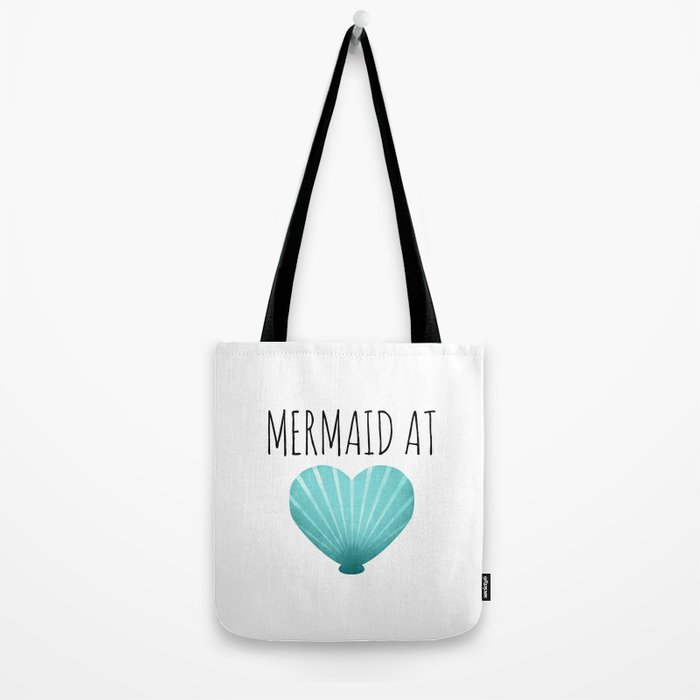 Mermaid At Heart  |  Teal Tote Bag
