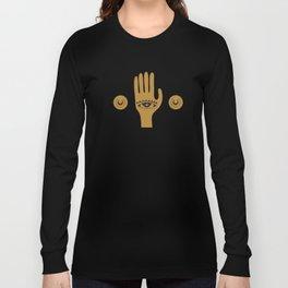 Golden Third Eye Palm Long Sleeve T-shirt