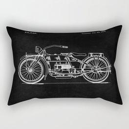 Motorcycle Blueprint 1919 Rectangular Pillow