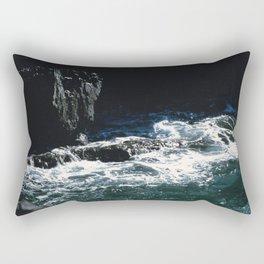 Dark Oceanic Cliff Rectangular Pillow