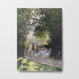 The Parc Monceau Metal Print