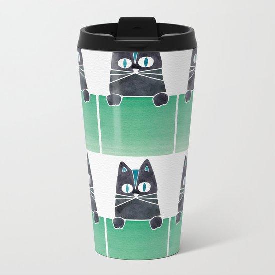 Cats in Boxes Metal Travel Mug