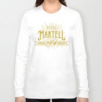 martell Long Sleeve T-shirts featuring House Martell Typography by P3RF3KT
