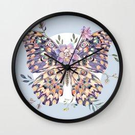 Watercolor Butterfly #68 Wall Clock