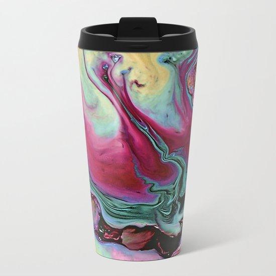 Colorful abstract marble Metal Travel Mug