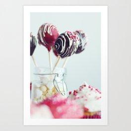 cake pops Art Print