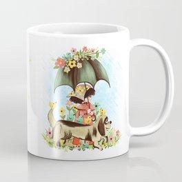 Rain on the green grass, Rain on the tree, Rain on the housetop, But not on me Coffee Mug