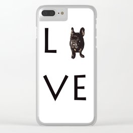 French Bulldog Love Art Print Clear iPhone Case