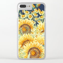 Vintage Garden (Sunflower Paradise) Clear iPhone Case