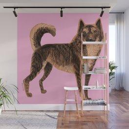 Kai Ken ( Tiger dog) Wall Mural