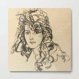 "Egon Schiele ""Mädchenkopf (Frau Sohn)"" Metal Print"
