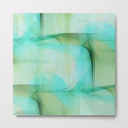Texture turqoise and green Metal Print