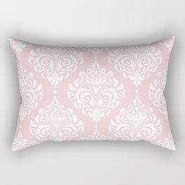 Pink Damask Rectangular Pillow