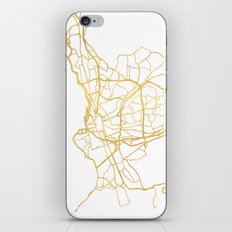 MARSEILLE FRANCE CITY STREET MAP ART iPhone Skin