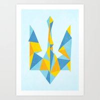 ukraine Art Prints featuring Ukraine Geometry by Sitchko Igor