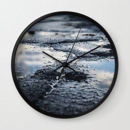 Asphalt Faults Wall Clock