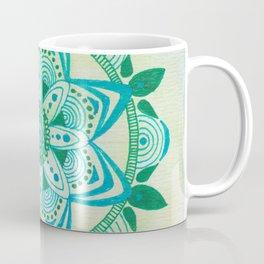 Simpe Blue/Green Mandala Coffee Mug