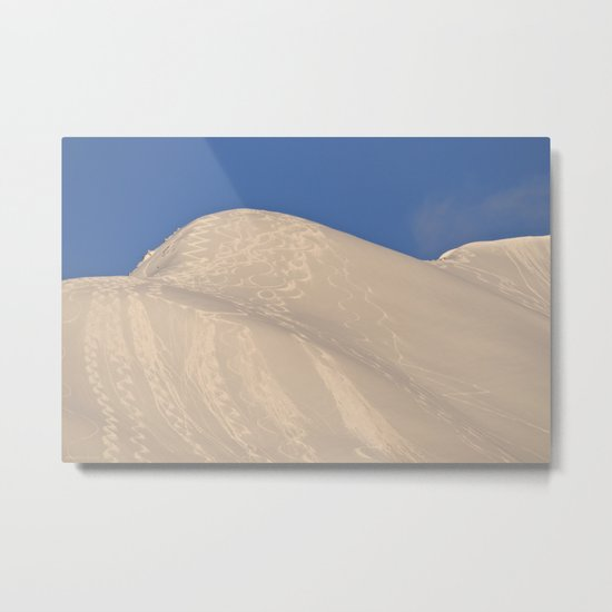 Back-Country Skiing - 7 Metal Print