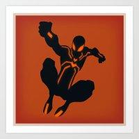 Peter's Stealth Suit (Spiderman) Art Print