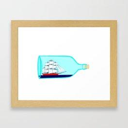 A Ship in a Bottle Framed Art Print