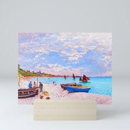 The Beach at Sainte Adresse Painting Claude Monet French Impressionism Art Print Nautical Painting Mini Art Print