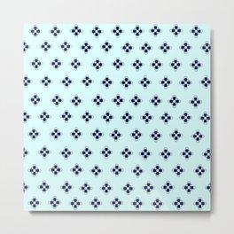 TiffanyBlue Pattern Metal Print