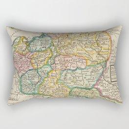 Vintage Map of Poland (1736) Rectangular Pillow