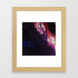 The Exotic. From my Original Painting. Abstract, Space, Blue, Jodilynpaintings Framed Art Print