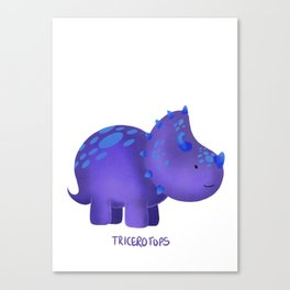 Tricerotops Canvas Print