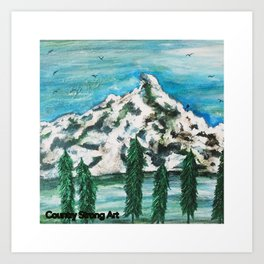 """Mountain is Home"" Art Print"