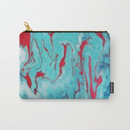 Coral Garden: Acrylic Pour Painting Carry-All Pouch
