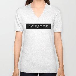 Bonjour T-Shirt Vol. II Unisex V-Neck