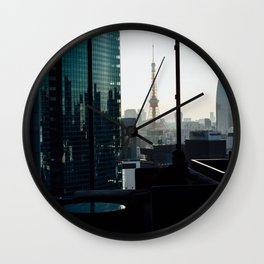 Japans Eiffle tower  Wall Clock