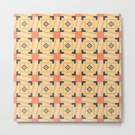 square pattern - Scandinavian Metal Print
