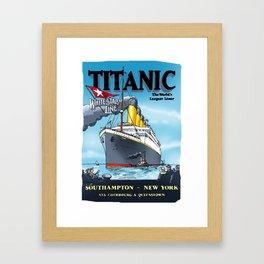 Titanic's - Inaugural Travel Poster 1912 - Cartoonish Interpretation Framed Art Print