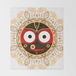 Jagannath. Indian God of the Universe. Lord Jagannatha. Throw Blanket