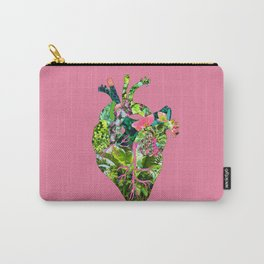 Botanical Heart Pink Carry-All Pouch